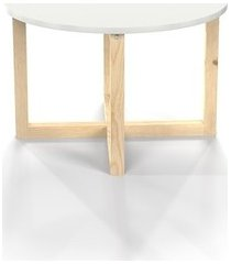 crossdes - okrągły stolik kawowy, drewno