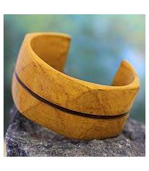 leather cuff bracelet, 'wend konta sun' (ghana)