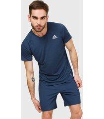 camiseta azul adidas performance runner