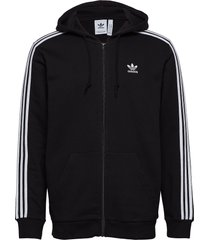 3-stripes fz hoodie trui zwart adidas originals