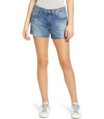 women's ag hailey boyfriend cutoff denim shorts, size 29 - blue