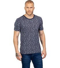 camiseta masculina estampa folhagem azul - azul - masculino - dafiti