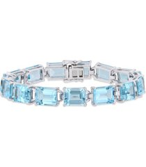 blue topaz (59-3/4 ct.t.w.) tennis bracelet in sterling silver