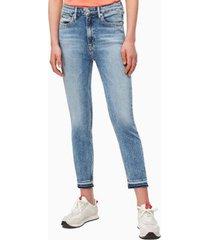 jeans skinny rise azul calvin klein