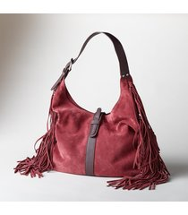 heartland fringed hobo bag