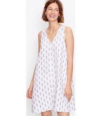 loft brushstroke double v swing dress