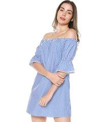vestido azul-blanco  ambiance