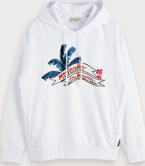 scotch & soda artwork hoodie keoni