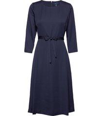 d1. preppy stripe flared dress jurk knielengte blauw gant