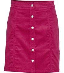 mini corduroy button kort kjol rosa calvin klein jeans