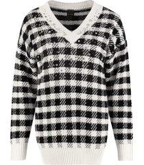 pinko moldavia gingham sweater