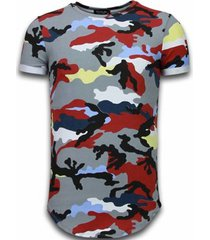 t-shirt korte mouw tony backer known camouflage t-shirt - long fit -shirt army -