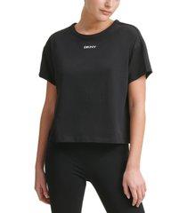 dkny sport women's cropped ringer t-shirt