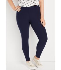 maurices plus size womens high rise ultra soft leggings blue