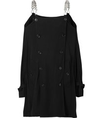 burberry deconstructed trench dress - black