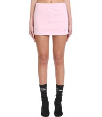vetements skirt in rose-pink cotton