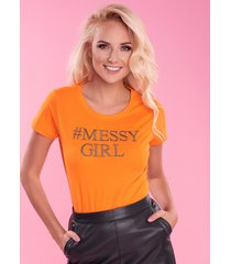 t-shirt  orange messygirl
