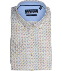 bos bright blue overhemd kortemouw multicolor 916670/214