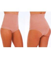 calcinha cintura alta modeladora confort caramelo