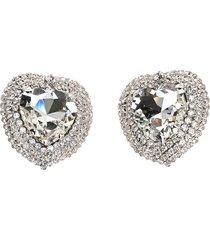 alessandra rich crystal heart clip on earrings