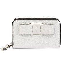 glitter zip-around wallet