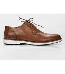 zapatos cordón de cuero liso