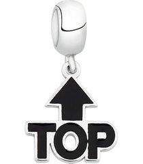 berloque joia em casa emoji top prata