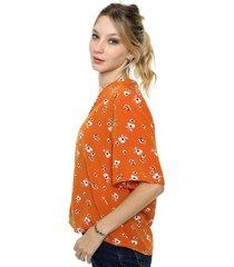 blusa naranja asterisco durham