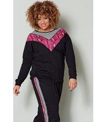 sweatshirt angel of style grijs::pink::zwart