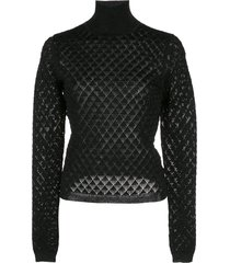 cinq a sept lilette sweatshirt - black