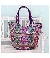 brocade shoulder bag, 'paisley parade' (india)
