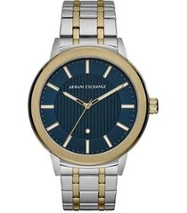 relógio armani exchange clássicos e diferenciados bicolor masculino