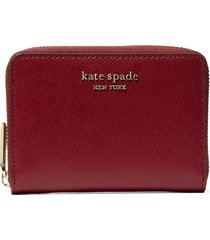 women's kate spade new york spencer zip leather card case - red