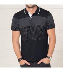 camiseta alan negro para hombre croydon