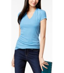 inc ribbed v-neck top, created for macy's