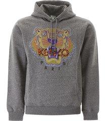 kenzo hiking tiger embroidery hoodie