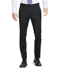men's bonobos jetsetter slim fit flat front stretch wool dress pants, size 33 x - grey