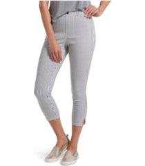 hue women's striped ultra soft denim leggings