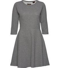 riley textured skater dress kort klänning grå superdry