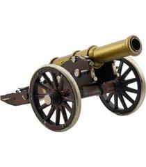 enfeite decorativo minas de presentes canhão marrom