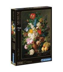 puzzle 1000 peças van dael - vaso de flores - clementoni - imp puzzle 1000 peças van dael - vaso de flores - clementoni - imp