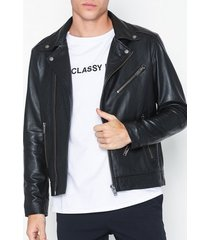 selected homme slh b-02 biker leather jkt w jackor svart