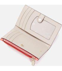 kate spade new york women's puffy small slim bifold wallet - peach melba multi