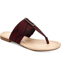 alfani women's hewitt thong flat sandals, created for macy's women's shoes
