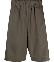 laneus wide-leg bermuda shorts - green
