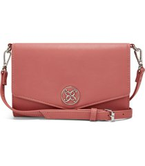 billetera nine west whitley slg large clutch orgzr - rosa