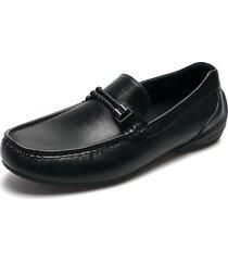 zapato casual mocasin negro pierre cardin pc0754-a