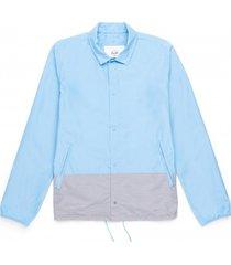 herschel jas supply co. men's voyage coach alaskan blue light grey crosshatch-s