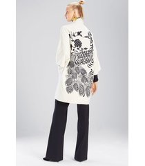 felt wool jacket, women's, white, size xl, josie natori