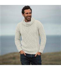 mens atlantic cream aran sweater xl